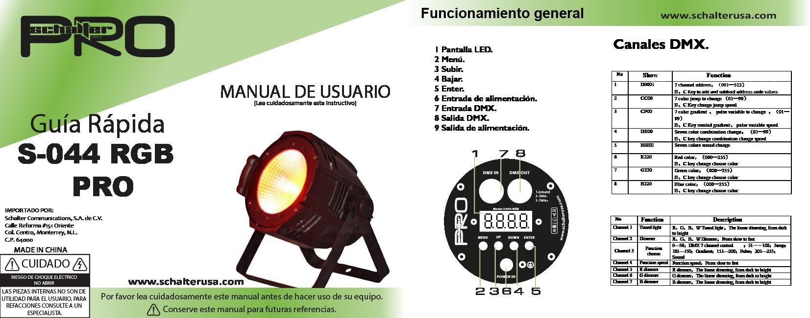 guia rapida S-044 RGB-01